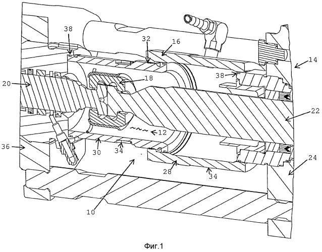 Телескопический корпус соединительного элемента штока