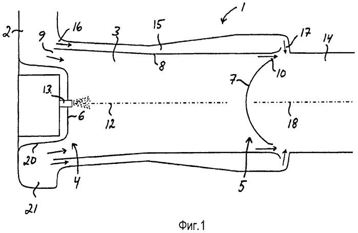 Устройство для введения жидкой среды в отработавшие газы двигателя внутреннего сгорания