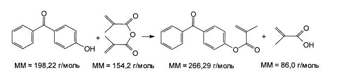 Способ получения метакрилированных бензофенонов