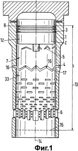 Цилиндр для поршневого двигателя возвратно-поступательного движения, его применение в качестве цилиндра для приема поршня большого двигателя, способ распределения смазки в цилиндре.