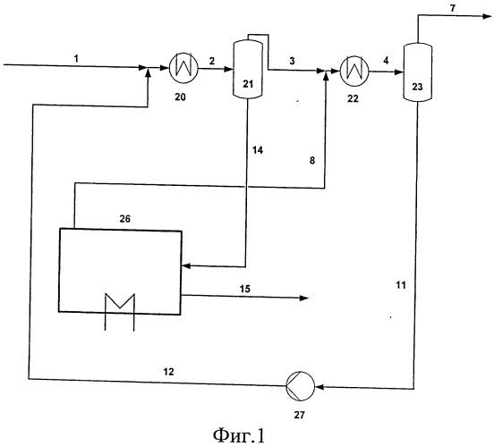 Способ осушки природного газа путем совместного охлаждения растворителя и природного газа