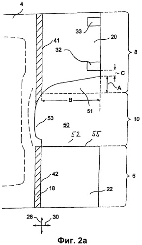 Одноразовый адсорбирующий используемый при недержании подгузник, имеющий боковые части