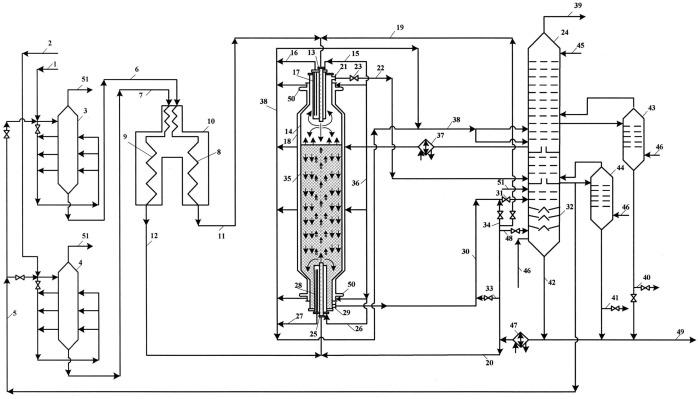 Установка для термодеструкции нефтяных остатков