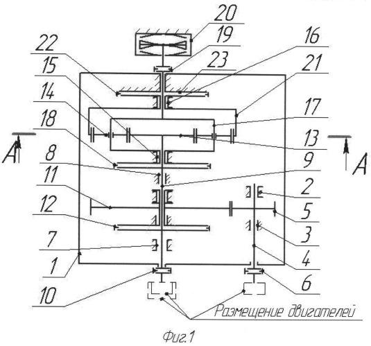 Стендовая редукторная установка для испытания двигателей