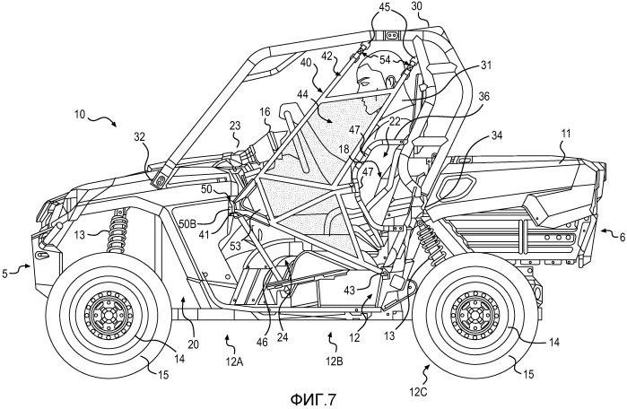 Боковое ограждение для колесного транспортного средства