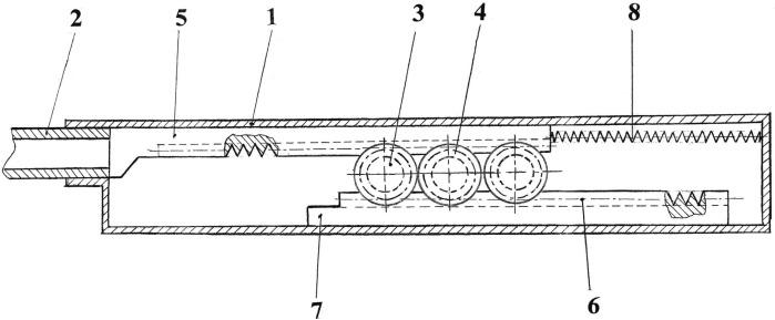 Противооткатная система запирания канала ствола для гранатометов