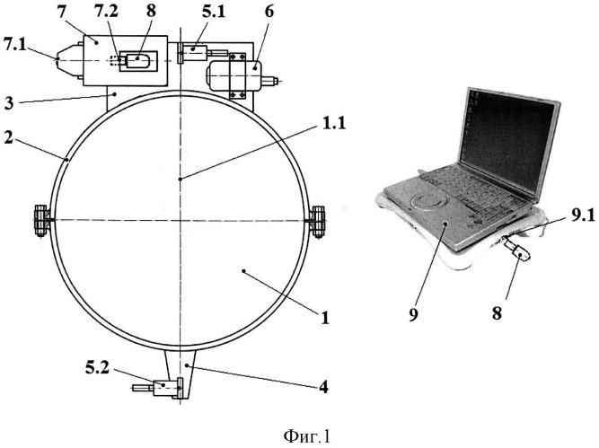 Система диагностирования технического состояния вала или валопровода роторной машины с использованием контактных датчиков абсолютной вибрации
