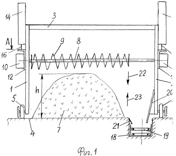 Комплекс для перегрузки древесных опилок с наземного склада в транспортное средство