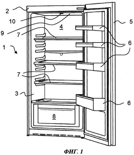Холодильный аппарат с внутренним освещением