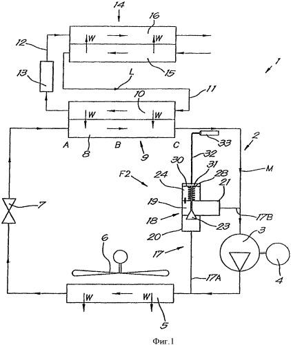 Устройство и способ для осушки газа охлаждением