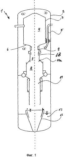 Реактор газификации для производства со-или н2-содержащего неочищенного газа