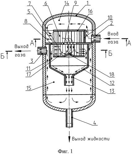Устройство для очистки газа от жидких и твердых частиц