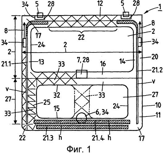 Задняя дверь для автомобиля, изготовленная из усиленного волокном термопластика