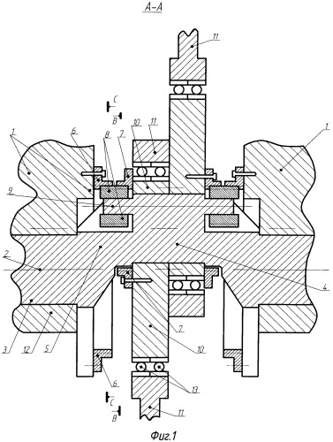 Шестеренный бесшатунный механизм с многоколенчатым валом