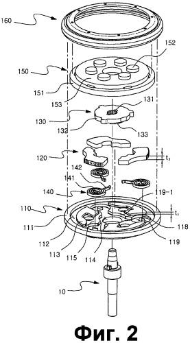 Круглое устройство для откидывания спинки сиденья транспортного средства