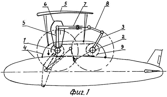 Летательный аппарат-аэроплан с махающим винтом (жукоплан)