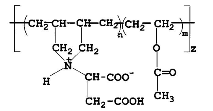 Сополимер на основе n,n-диаллиламинобутандиовой кислоты и винилацетата
