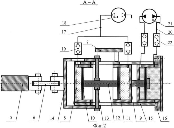 Рыхлитель с газовым аккумулятором энергии двухстороннего действия