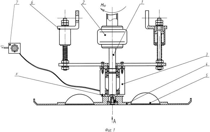 Дисковый рабочий орган бетоноотделочной машины с изменяемым градиентом свч излучения