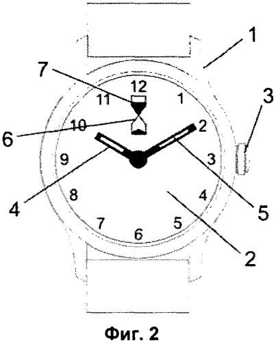 Способ индикации времени анимацией песочных часов и часы с индикацией времени анимацией песочных часов