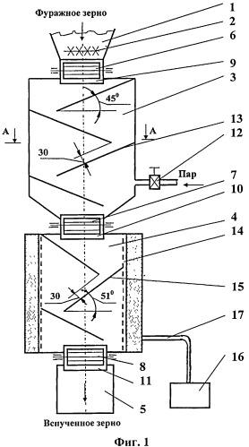 Способ микронизации фуражного зерна электрофизическим методом