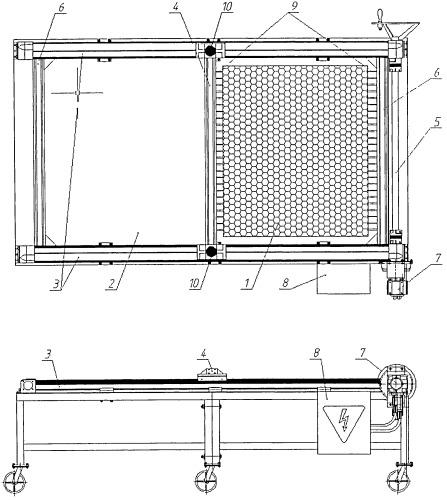 Способ и устройство для растяжения сотового заполнителя