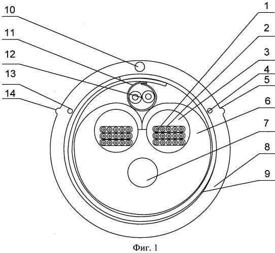 Комбинированная конструкция симметричного и оптического кабеля связи