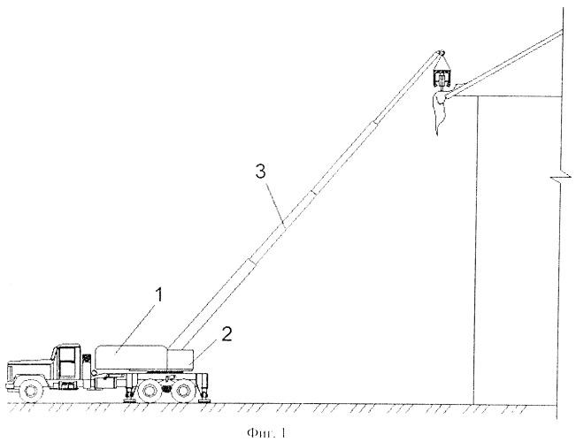 Устройство для удаления сосулек с карнизов крыш зданий