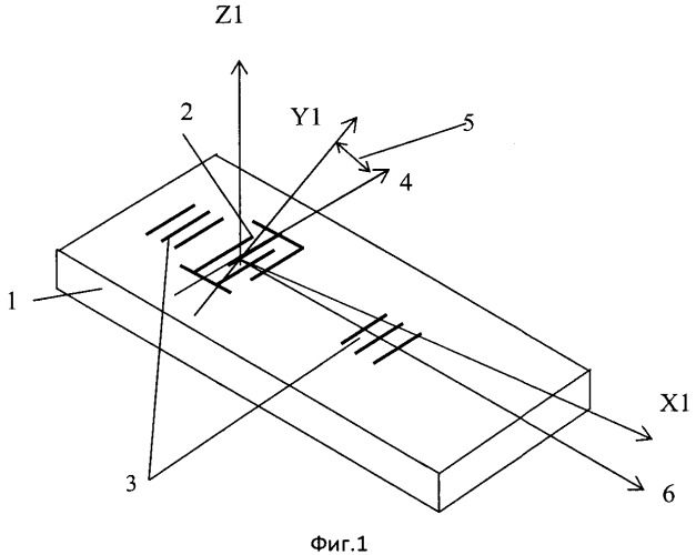 Чувствительный элемент на поверхностных акустических волнах для измерения температуры