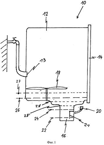 Способ заполнения водой моечного бака посудомоечной машины