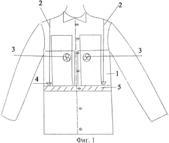 Защитная куртка спасателей, действующих в условиях повышенной радиации