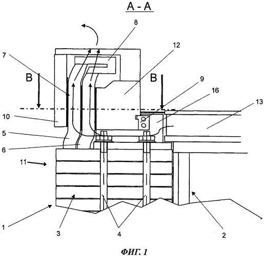 Опорный кронштейн лобовых частей обмотки электрической машины