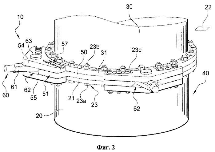 Подмоторный кронштейн главного насосного агрегата с приводом от двигателя для водо-водяного энергетического ядерного реактора