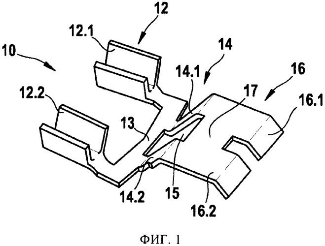 Соединительное устройство для датчика и датчик