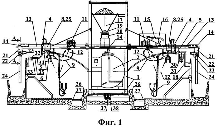 Передвижной доильный агрегат