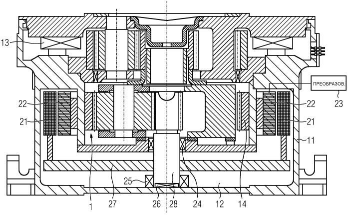 Редукторный двигатель для приводной системы мельницы