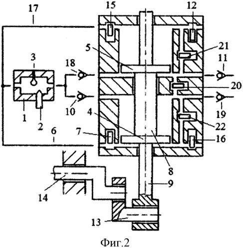 Способ реверсирования вращения коленчатого вала однотактного двигателя с внешней камерой сгорания