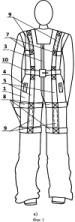 Комбинезон для перемещения людей с ограниченными двигательными возможностями (инвалидов-колясочников)