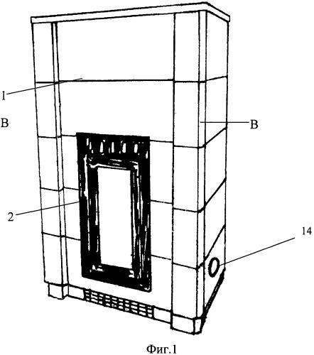 Конвекционно-аккумулирующая печь-камин
