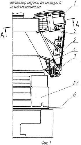 Устройство фиксации гермоконтейнера научной аппаратуры