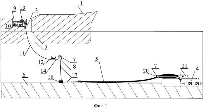 Система для транспортировки текучей среды к плавающему судну