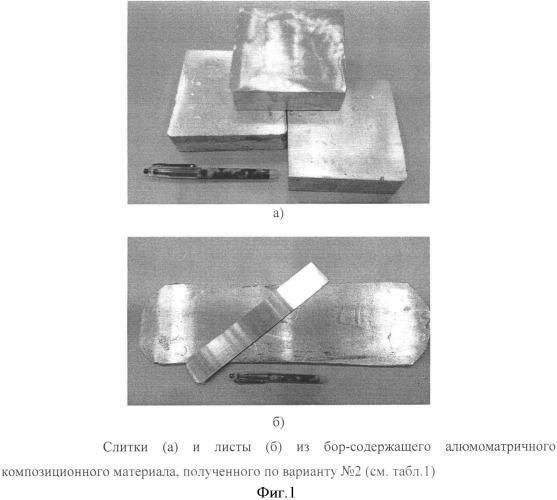 Способ получения листов из бор-содержащего алюмоматричного композиционного материала