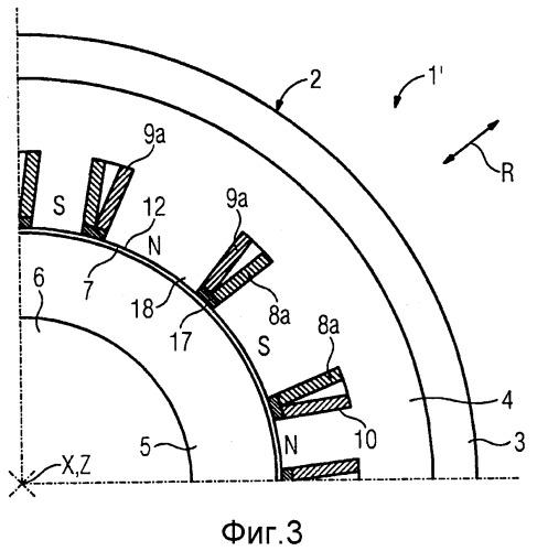 Радиальный магнитный подшипник для магнитной опоры ротора