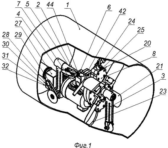 Устройство для чистки внутренней поверхности трубы вращающимся стальным канатом