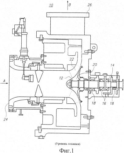 Консольный осевой компрессор, химический реактор и способ изготовления консольного осевого компрессора