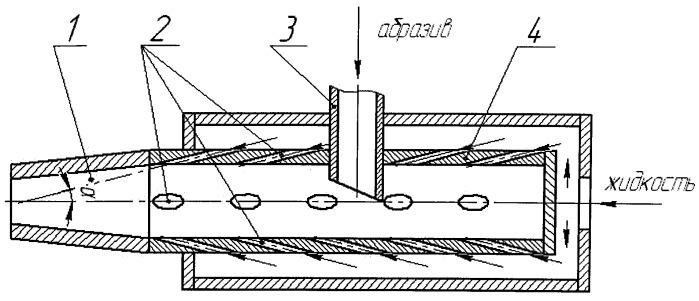 Способ гидроабразивной обработки материалов