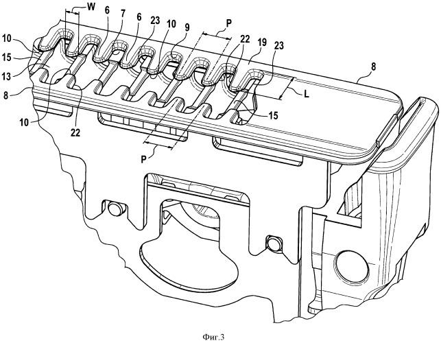 Бреющий узел для электрической бритвы