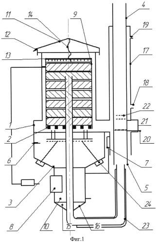 Устройство для сжигания твердого топлива в пульсирующем потоке