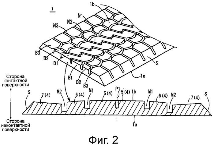 Вулканизированный протектор и шина