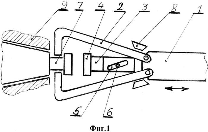 Механизм съема конической оправки при автоматической смене инструмента